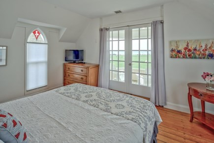 Oak Bluffs Martha's Vineyard vacation rental - King bed with a private balcony overlooking park and ocean