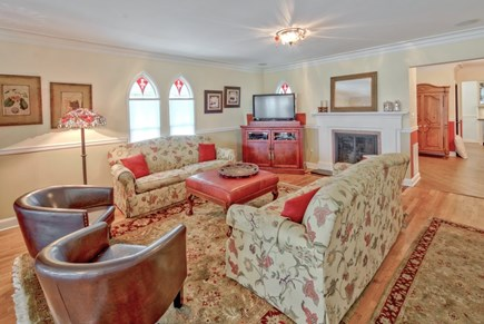 Oak Bluffs Martha's Vineyard vacation rental - Living Room with fireplace