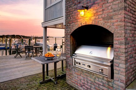 Edgartown, The Dexter House Martha's Vineyard vacation rental - Enjoy Grilling while watching the sun set over Edgartown Harbor