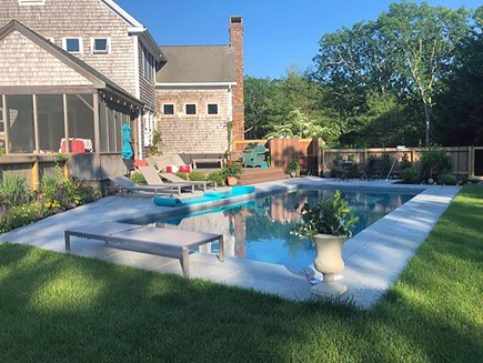 Edgartown, ENC2065 Martha's Vineyard vacation rental - Backyard with heated pool