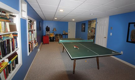 Edgartown Martha's Vineyard vacation rental - Lower level recreation room with ping pong table