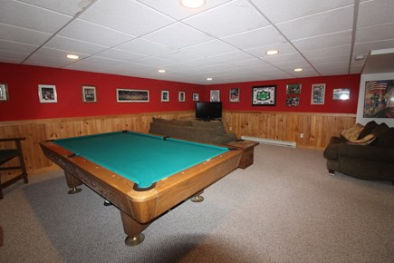 Edgartown Martha's Vineyard vacation rental - Lower level recreation room with billiard table
