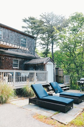 Oak Bluffs, Meadow View Farms Martha's Vineyard vacation rental - 2 loungers, sectional sofa, full dining set, propane grill