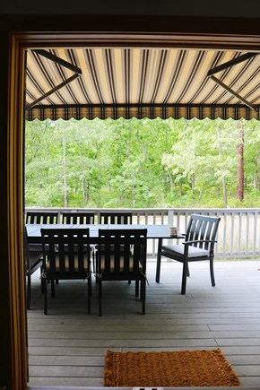 Oak Bluffs, Meadow View Farms Martha's Vineyard vacation rental - Transition to deck and extend awning for comfort