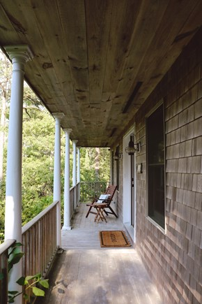 Oak Bluffs, Meadow View Farms Martha's Vineyard vacation rental - Look out into the meadow from the front porch in peace
