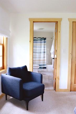 Oak Bluffs, Meadow View Farms Martha's Vineyard vacation rental - BR1, first floor, en-suite queen bedroom (alt view)
