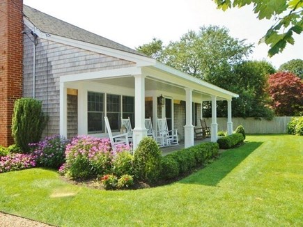 Katama - Edgartown Martha's Vineyard vacation rental - Perfect front porch to sit and enjoy a book or a cocktail!