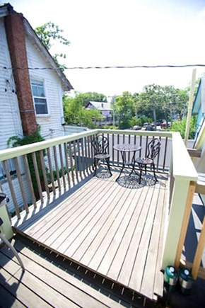 Oak Bluffs Martha's Vineyard vacation rental - Grill on your private deck among the Oak Bluffs rooftops