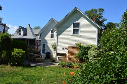 Downtown Oak Bluffs Martha's Vineyard vacation rental - Beautiful patio area for grilling and outdoor entertaining.