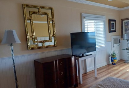 Vineyard Haven Harbor Front Martha's Vineyard vacation rental - Entertainment center and a mirror to admire your tan