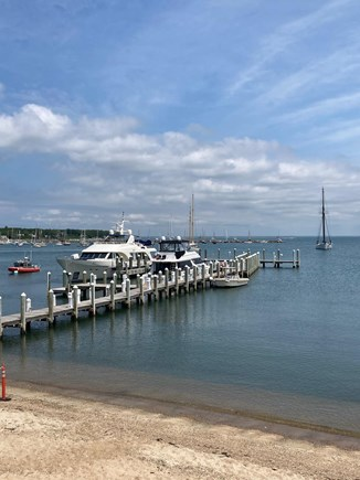 Vineyard Haven Harbor Front Martha's Vineyard vacation rental - Is this your yacht at the pier?
