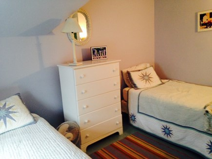 Oak Bluffs Martha's Vineyard vacation rental - Bedroom 4, the Lilac Room, has two twins and a trundle.