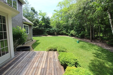 Vineyard Haven Martha's Vineyard vacation rental - Backyard and deck area