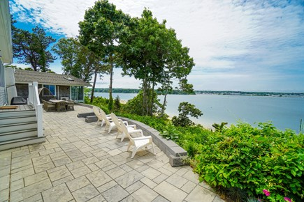 Oak Bluffs Martha's Vineyard vacation rental - Patio with guest house and lagoon