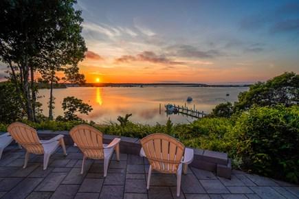Oak Bluffs Martha's Vineyard vacation rental - Patio at sunset