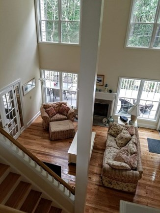 Vineyard Haven Martha's Vineyard vacation rental - Living Room from above