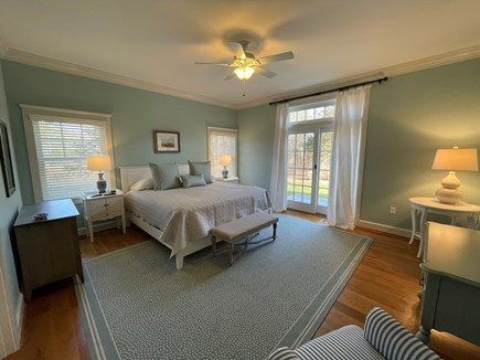 Edgartown, Nora's Meadow Martha's Vineyard vacation rental - Spacious First Floor Bedroom with a King Bed and En Suite Bath.