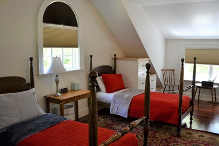 Oak Bluffs, East Chop Martha's Vineyard vacation rental - Large, second-floor bedroom with 3 twin beds.