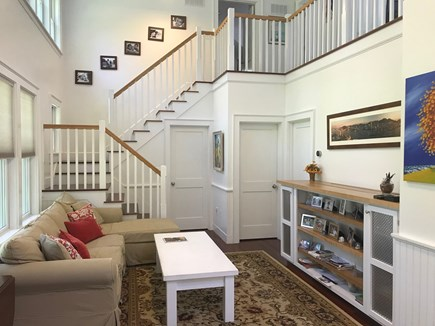 Oak Bluffs, East Chop Martha's Vineyard vacation rental - The living room has Cathedral Ceilings