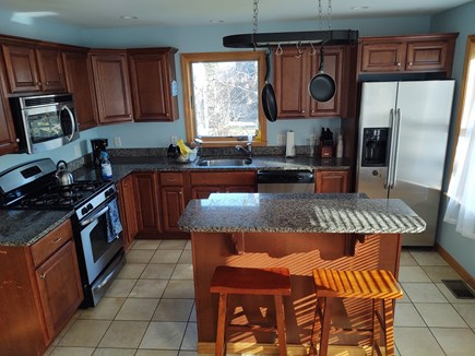 Oak Bluffs Martha's Vineyard vacation rental - Kitchen features all stainless steel appliances.