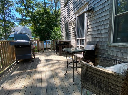 Oak Bluffs Martha's Vineyard vacation rental - Versatile deck boasts 2 sitting areas. New Webber gas grill.