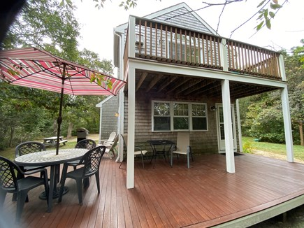 Katama - Edgartown Martha's Vineyard vacation rental - Spacious back deck w/BBQ grill and dining area