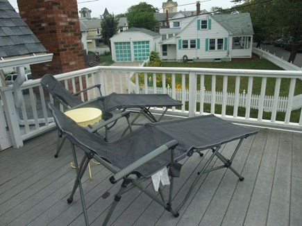 Oak Bluffs Martha's Vineyard vacation rental - Upstairs Private Deck off Master Bedroom
