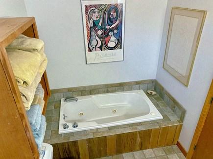 West Tisbury Martha's Vineyard vacation rental - Whirlpool in Grand Bedroom en-suite bathroom