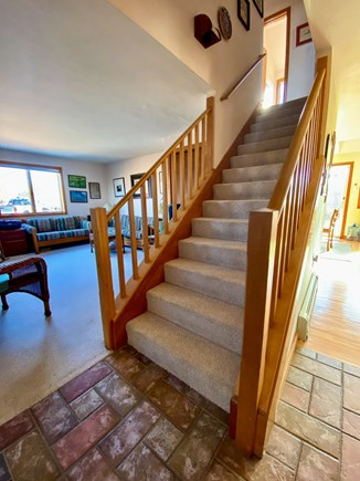 West Tisbury Martha's Vineyard vacation rental - Stairway to the bedrooms of the Guest Suite