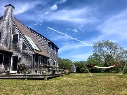 West Tisbury Martha's Vineyard vacation rental - JADE House Bed and Breakfast deck and hammock
