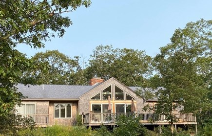West Tisbury Martha's Vineyard vacation rental - Back view of extraordinary home!