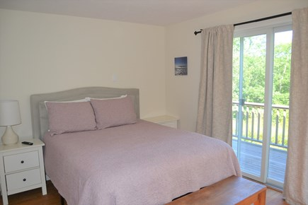 West Tisbury Martha's Vineyard vacation rental - Queen bedroom with slider to private deck