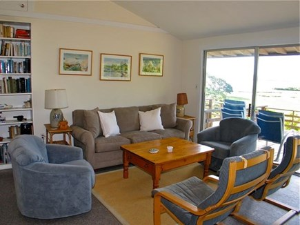 Chilmark, Martha's Vineyard Martha's Vineyard vacation rental - Open sitting area with sliding glass doors to deck & view