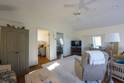 Katama - Edgartown Martha's Vineyard vacation rental - Our large and open living room has a vaulted ceiling