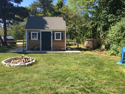 Katama - Edgartown Martha's Vineyard vacation rental - Storage shed, 3 car parking, 3 pod vegetable garden, fire pit