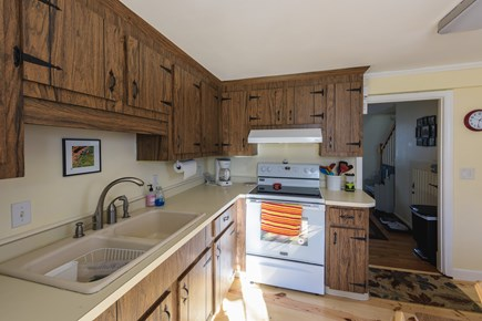 Katama - Edgartown Martha's Vineyard vacation rental - Fully stocked kitchen has  dinette  and washer dryer in closet