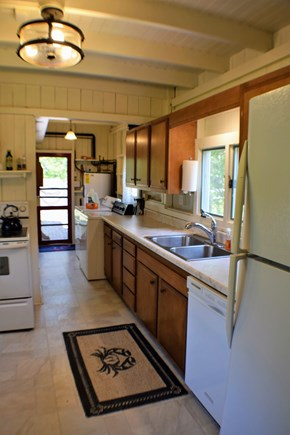 Oak Bluffs Martha's Vineyard vacation rental - Well-equipped kitchen and propane grill out the back door