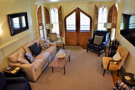 Oak Bluffs Martha's Vineyard vacation rental - Living room with amble seating and large flat screen smart TV