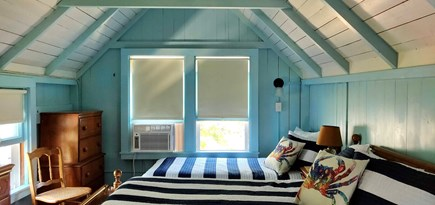 Oak Bluffs Martha's Vineyard vacation rental - Bedroom with full, twin, and single trundle beds and window AC