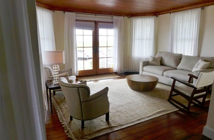 Oak Bluffs Martha's Vineyard vacation rental - Living area with french doors open to the porch