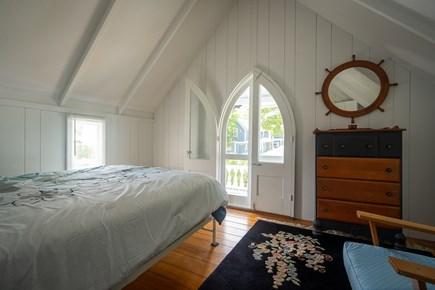 Oak Bluffs, Historic Copeland District Martha's Vineyard vacation rental - Second floor bedroom-queen bed private balcony (BR 5 of 5)