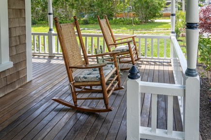 Oak Bluffs, Historic Copeland District Martha's Vineyard vacation rental - Relaxing porch to enjoy the sunrise and sip a cup of coffee.