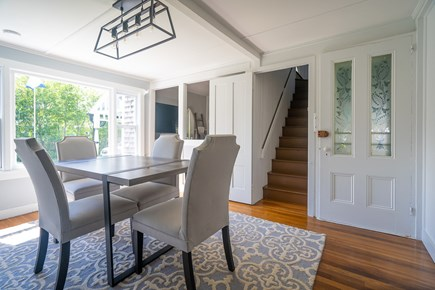 Oak Bluffs, Historic Copeland District Martha's Vineyard vacation rental - Separate dining room; rustic table perfect for games! can seat 8.