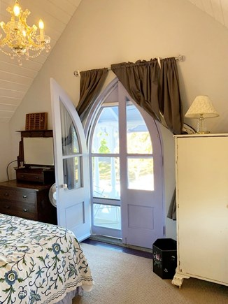 Oak Bluffs, In Town near Niantic Martha's Vineyard vacation rental - 2nd floor Master Queen bedroom w porch