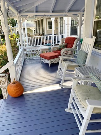 Oak Bluffs, In Town near Niantic Martha's Vineyard vacation rental - Front porch