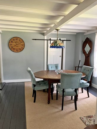 Oak Bluffs, In Town near Niantic Martha's Vineyard vacation rental - Dining room (1/2 bath behind white door)