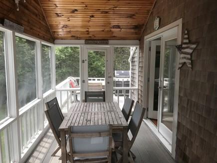 Katama - Edgartown Martha's Vineyard vacation rental - Enclosed portion of wrap around deck
