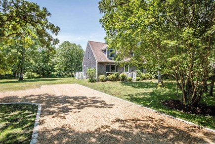 West Tisbury Martha's Vineyard vacation rental - Pebble driveway with room for 4+ cars