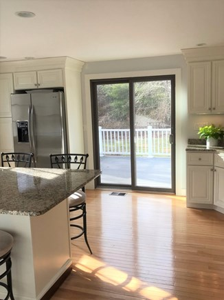 West Tisbury Martha's Vineyard vacation rental - Kitchen slider leading to large back deck