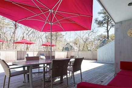 Edgartown Martha's Vineyard vacation rental - Comfortable deck with pool